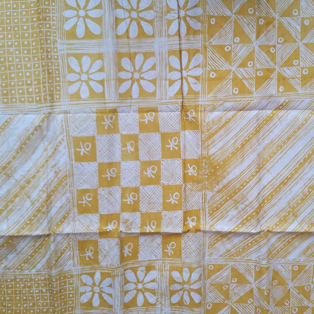 Yellow Adire Fabric