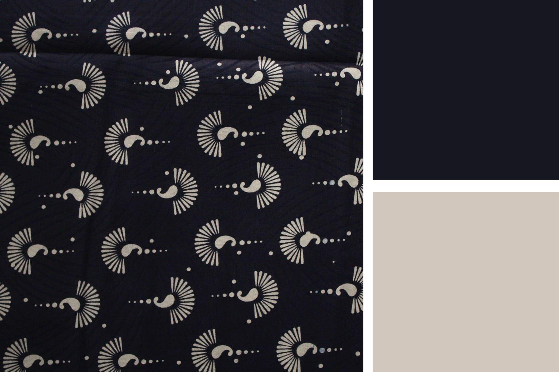 Blue wax print fabric