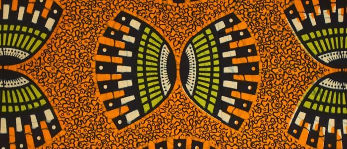 Orange African Fabric