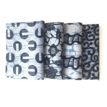 Blue African Print Fat Quarters