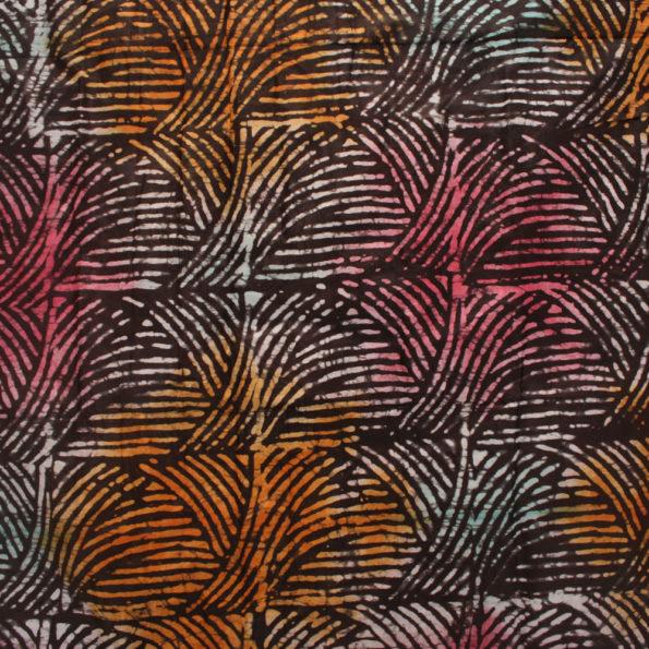 Abstract Brown Batik