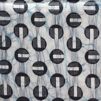 Blue Circles African Print