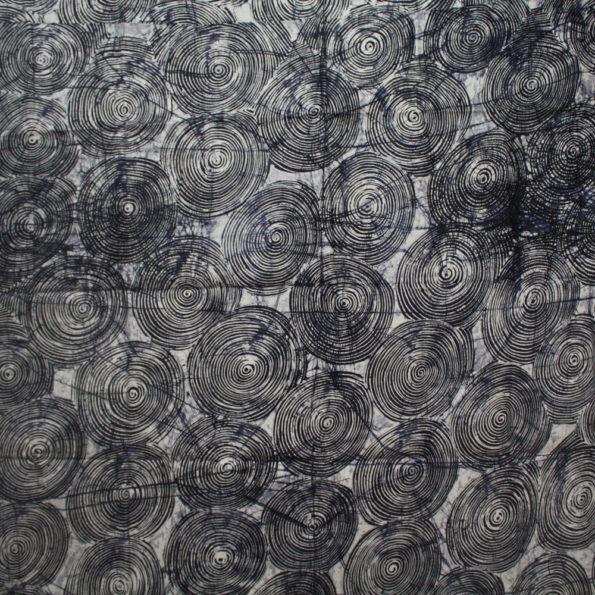 Black and white swirls batik