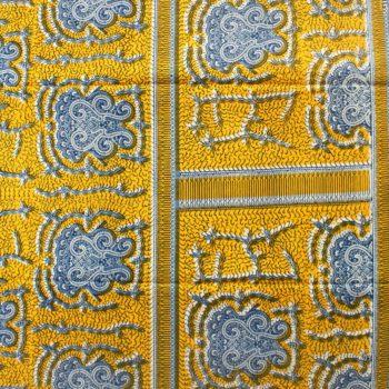 Yellow and Blue Ankara