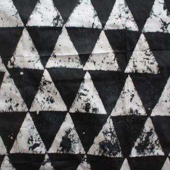 Black and white batik