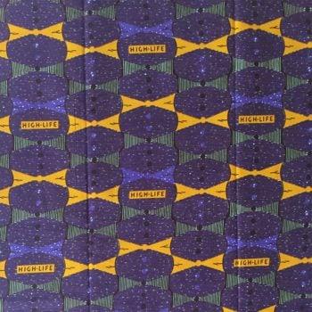 Purple Highlife Ankara fabric