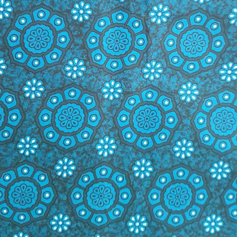 Turquoise Floral Shweshwe Fabric
