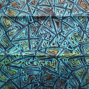 Green and blue batik fabric
