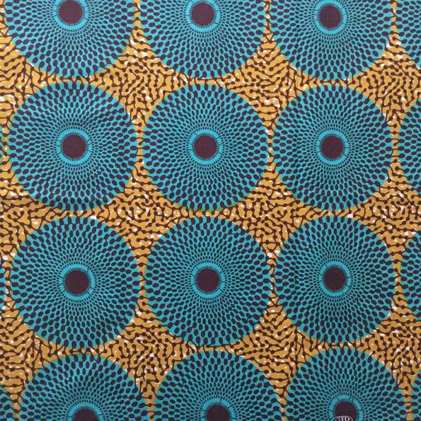 Nsu Bura fabric, Teal and Olive Green