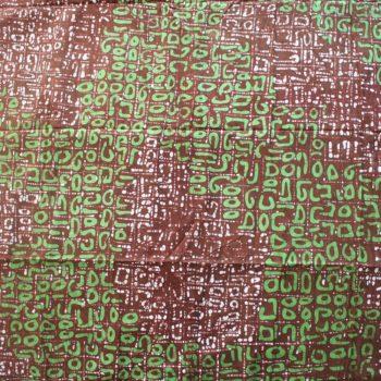 Brown and Green Batik